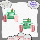 The Grinch Christmas Drive On A Jeep svg, Christmas Ornament, Christmas svg, cutting file