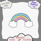 Rainbow Svg, rainbow clouds Svg files for Cricut, Silhouette Iron on design, Rainbow png