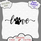 Love with a Paw Print svg, Love with Pawprint svg, Dog svg, Dog Sign svg, Dog svg Files