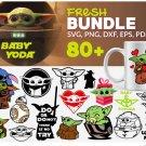 Baby Yoda 80 pcs Valentine's Day Bundle svg, Valentine Baby Yoda Svg, Yoda Heart Clipart