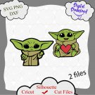 Baby Yoda Svg, Cute Baby Yoda Character Svg, Disney Baby Yoda Svg, Baby Alien Svg, Star War Svg