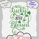 St Patrick's Day SVG, Not Lucky Just Blessed Svg, Lucky svg, Patricks day svg, Quote svg, Funny svg