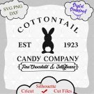 Easter svg, Cottontail Candy Company, Spring Svg, Easter Design for Shirts, Easter Quotes