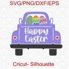 Easter Truck SVG, Easter SVG, Easter Eggs Svg, Easter, Easter old Truck, Easter carrots Svg
