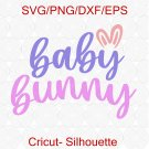 Mama Bunny SVG, Baby Bunny SVG, Easter Pregnancy Announcement SVG, Pregnancy Svg