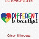 Autism awareness SVG, Autism SVG, Different is Beautiful SVG, Autism shirt svg files