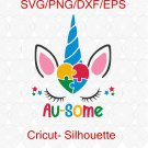 Autism Unicorn SVG, Autism Awareness Svg for Customizing Kids T Shirts, Awareness svg