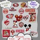 Sanfrancisco 49ers bundle logo sport svg, Sanfrancisco 49ers bundle svg, Nfl svg, dxf cutting file