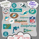 Miami Dolphins bundle logo sport svg, Miami Dolphins bundle svg, Nfl svg, dxf cutting file