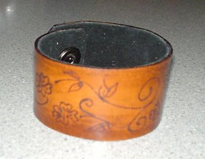Leather Scribble Bracelet