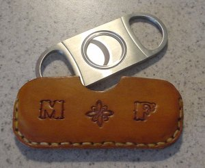 Leather Cigar Cutter Case, personalized