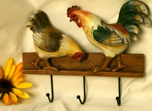 Colorful Chicken & Rooster Hook