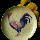 Porcelain Rooster Plate W/ Stand