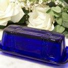 Butter Dish Cobalt Blue