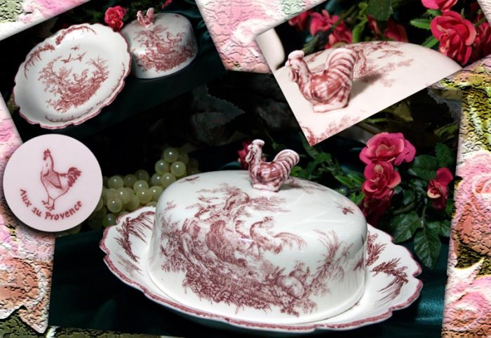 Round Rooster Dish