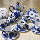 "Tea Set Blue and White ""Iron Stone"""
