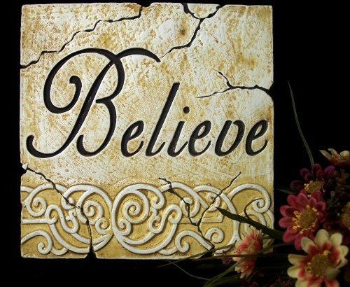 """Inspirational Plaque """"Believe"""