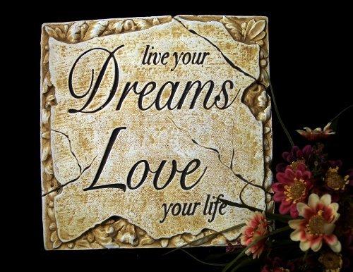 "Inspirational Plaque ""Live Your Dreams"