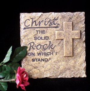 """Christ Wall Plaque - """"Solid Rock"""