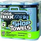 Tool Box Blue Shop Towels 6 Pack