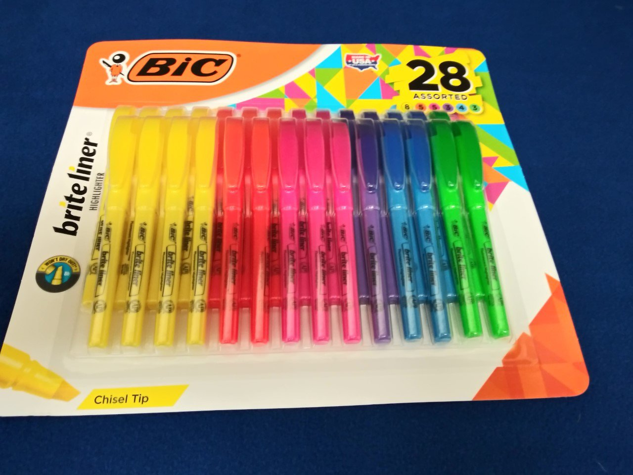 BIC 28 Assorted Brite Liner Highligthers
