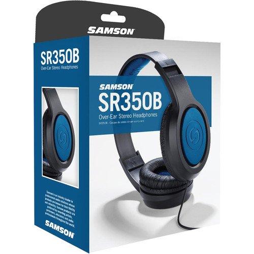 Samson SR350 Over-Ear Stereo Headphones (Special Edition Blue)