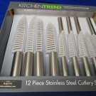 Kitchen Trend 12 Piece Stainless Steel Knives