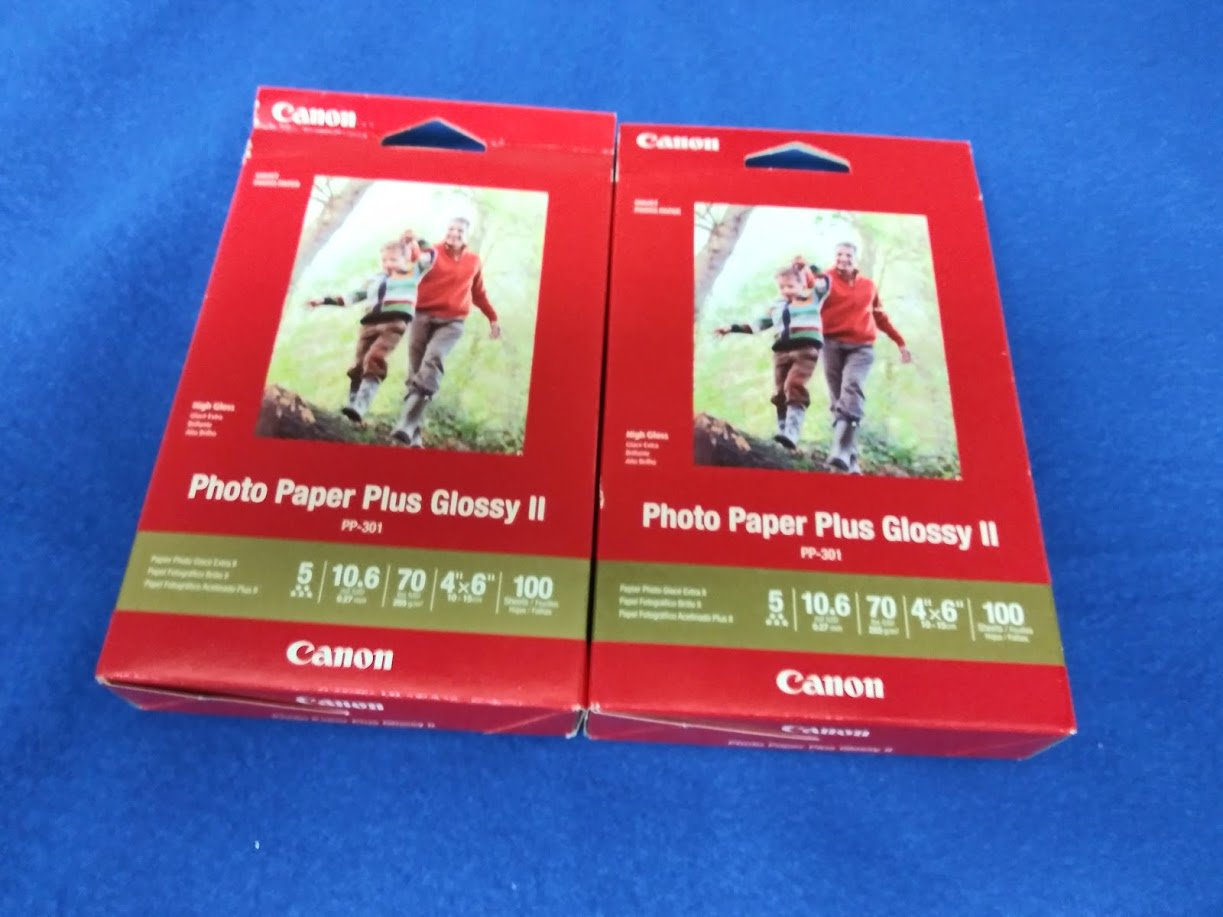 """Canon PP-301 Photo Paper Plus Glossy II (4 x 6"""", 100 Sheets) - 2 Pack"""