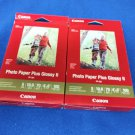 "Canon PP-301 Photo Paper Plus Glossy II (4 x 6"", 100 Sheets) - 2 Pack"