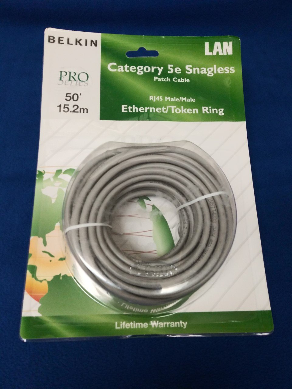 Belkin A3L791-S 50-Foot RJ45 CAT 5e Snagless Molded Patch Cable (Gray)
