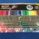 BIC Intensity Permanent Markers, Ultra & Fine Point, Asst. Colors, 40 Count