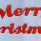 Scrapbooking Die Cuts Cut Red Flocked ~ Merry Christmas