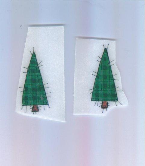 Scrapbooking Single Use RUB ON Ons PINE TREE Trees Rub-ons
