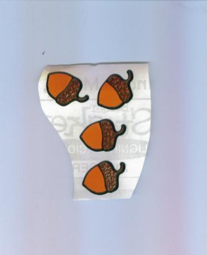 Scrapbooking Stickers - Set of Four ACORN STICKERS