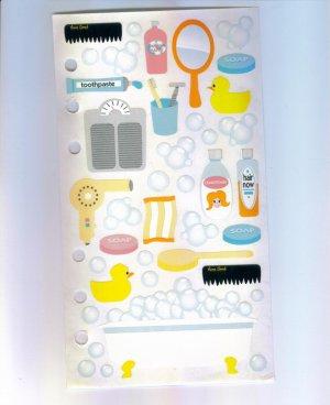 Scrapbooking Sticker STICKOPOTAMUS BATHTIME STICKERS Out Of Print