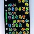 Scrapbooking Sticker STICKOPOTAMUS Irridescent HAND PRINTS STICKERS MT-41
