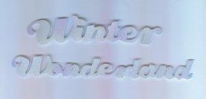 Scrapbooking DIE CUT Cuts Blue Prismatic ~ WINTER WONDERLAND