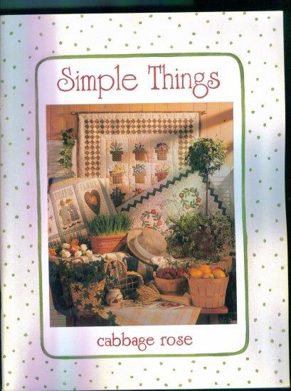 Simple Things ~ Cabbage Rose ~ Quilting Pattern Book ~ Barbara Brandeburg