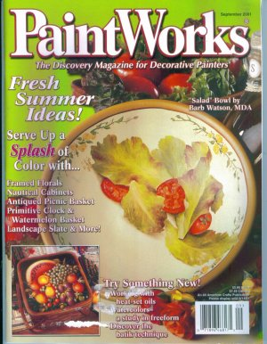 PAINT WORKS September 2001 Magazine Back Issue Out Of Print Tole Decorative Painting