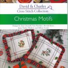 DAVID & CHARLES Cross Stitch Collection CHRISTMAS MOTIFS CrossStitch Designs Softbound Book Leaflet