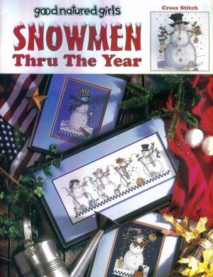 Retired Good Natured Girls SNOWMEN THRU THE YEARS Cross Stitch Designs Leisure Arts Book Leaflet