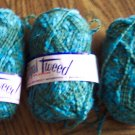 3 Bernat Opal Tweed Yarn 53% Wool 44% Viscose Rayon 3% Nylon Mothproofed and Washable