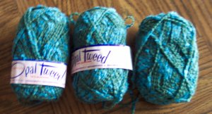 3 Bernat Opal Tweed Yarn 53% Wool 44% Viscose Rayon 3% Nylon Mothproofed and Washable