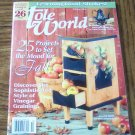 TOLE WORLD October 2003 Vinegar Graining Learning Good Strokes Back Issue Magazine