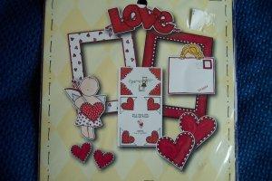 Scrapbooking DIE CUT Cuts FRAME UPS by MY MIND'S EYE Valentine Fun Pack FPS001