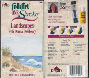 Plaid Folk Art Folkart One Stroke Landscapes with Donna Dewberry Video VHS location96