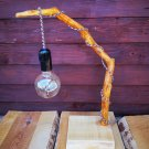 Standing lamp made of branches, handmade.
