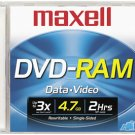 MAXELL 636070 DVD-RAM Recordable 4.7 GB DVD Disc