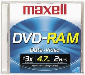 MAXELL 636070 DVD-RAM Recordable 4.7 GB DVD Disc