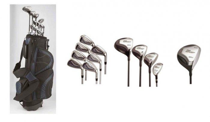 Pro Concepts 17 Piece Mens Golf Set Combo